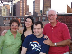 Pye Family on Dave's North End Roofdeck